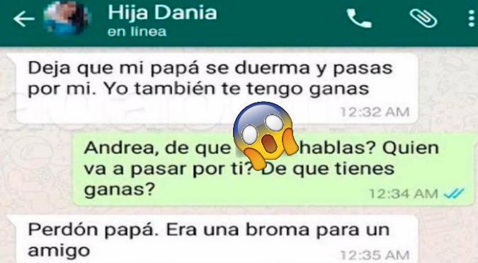 WhatsApp: Padre se entera que su hija hará 'travesuras' con su novio