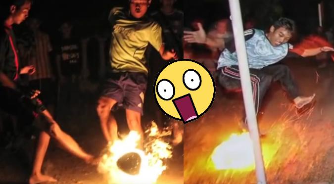 YouTube: Niños que juegan con pelota de fuego causan asombro