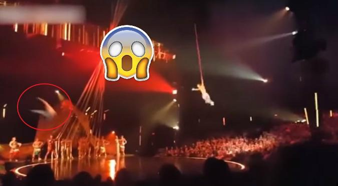 YouTube: Preciso momento en que acróbata de Cirque du Soleil pierde la vida