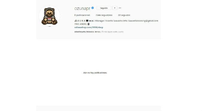 ¿Por qué Ozuna eliminó sus fotos y videos de Instagram?