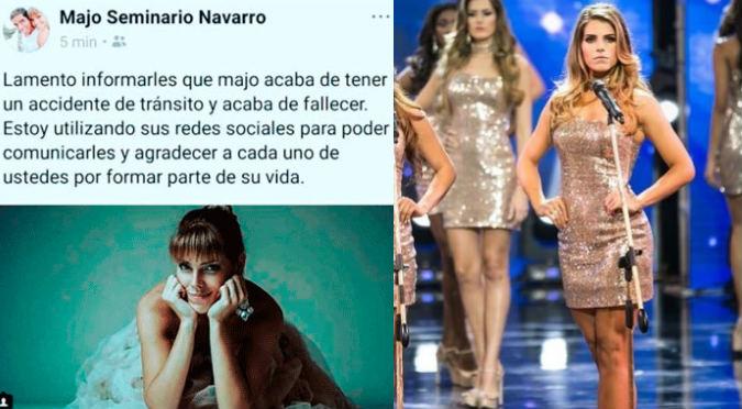 Anuncian el fallecimiento de candidata al Miss Perú, pero esta es la verdad