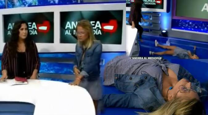 Michela Elías se desmaya en vivo tras contar episodio en su colegio (VIDEO)