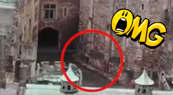 YouTube: Captan 'jinete fantasma' en antiguo Castillo de Inglaterra