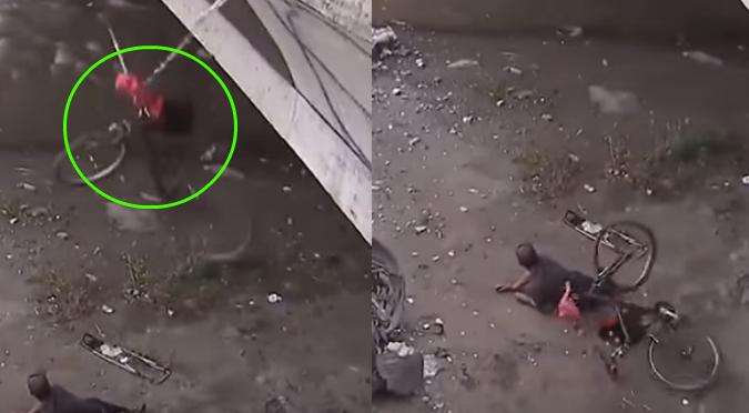 YouTube: Joven cae de puente por querer visualizar accidente