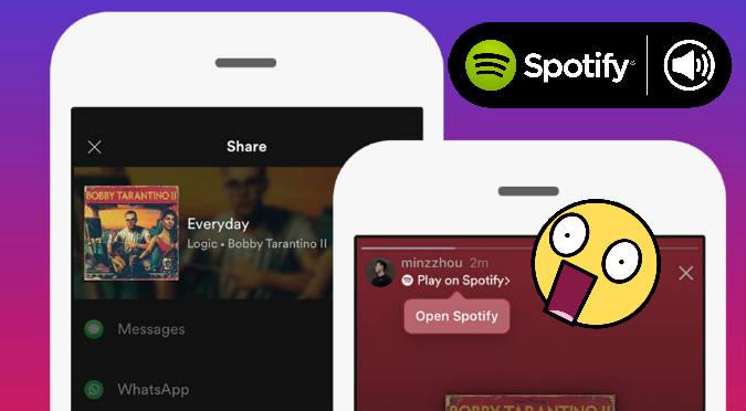 Ahora podrás compartir canciones de Spotify a Instagram ¡OMG!