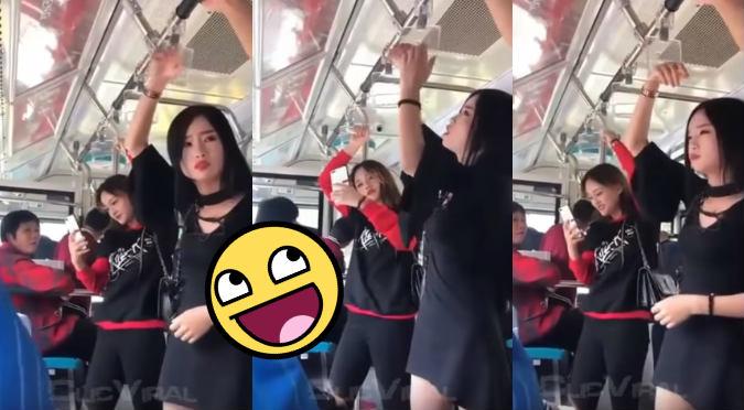 Sexy mujer pasa el roche de su vida en un autobús (VIDEO)