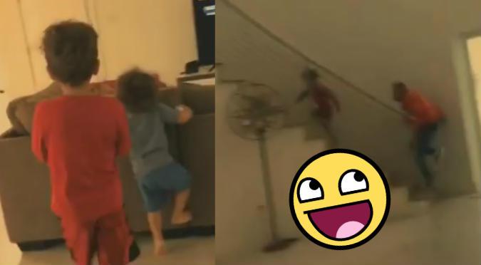Hijos de Nacho le hacen broma pesada y él reacciona así (VIDEO)