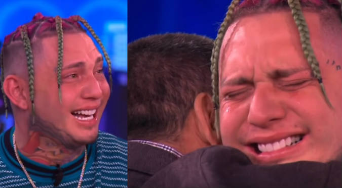 Famoso cantante de trap llora en vivo al conocer a su padre por primera vez