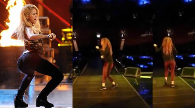 Shakira y sus sensuales pasos de salsa (VIDEO)