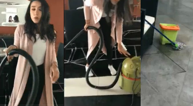 Hijas de Melissa Klug muestran cómo limpian su casa (VIDEO)