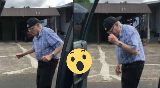 Abuelo de 93 años sorprende con #KikiChallenge (VIDEO)