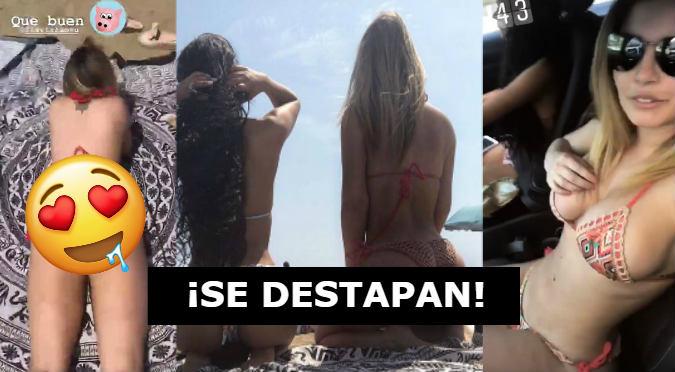 Mayra Goñi y Flavia Laos muestran sus tremendos atributos en playas de España