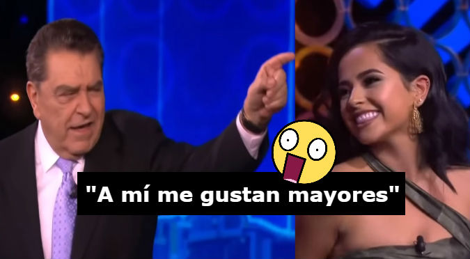Becky G le cantó 'Mayores' a Don Francisco y él reaccionó así (VIDEO)