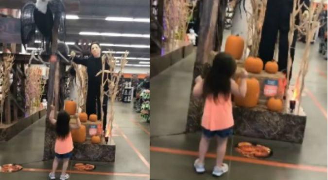 Niña baila aterradora canción de Halloween y es viral en redes sociales (VIDEO)