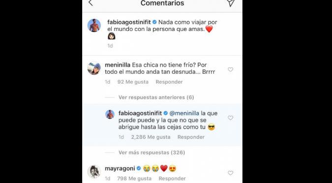 Fabio Agostini ningunea a usuaria por criticar a Mayra Goñi