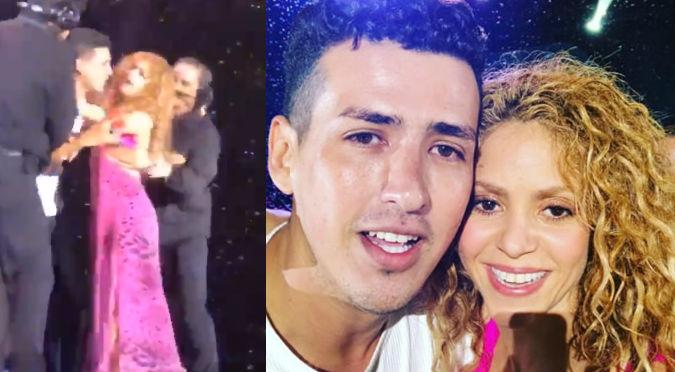 Shakira defendió a fanático de sus guardaespaldas (VIDEO)