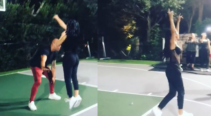 Becky G juega basket y causa furor en Instagram (VIDEO)