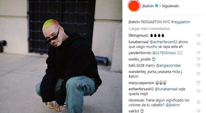 Trolean a J Balvin por radical cambio de look (FOTOS)