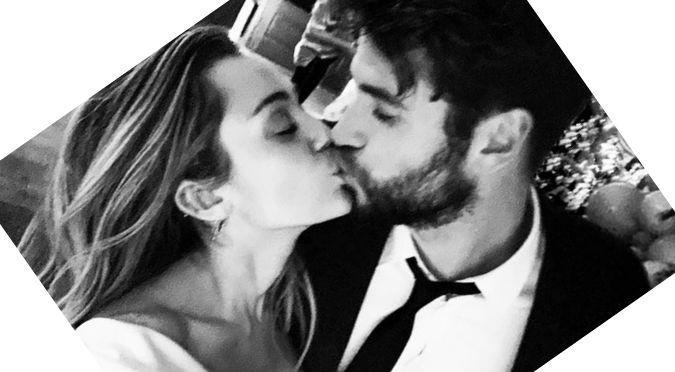 Miley Cyrus se casó con Liam Hemsworth y fotos lo comprueban