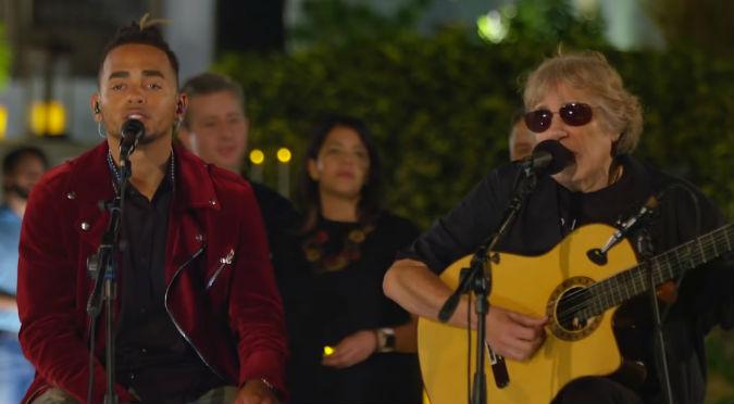 Ozuna cantó a capella con José Feliciano y le llueven críticas (VIDEO)