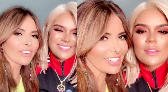 Karol G y Gloria Trevi fueron sorprendidas mientras grababan videoclip (VIDEO)