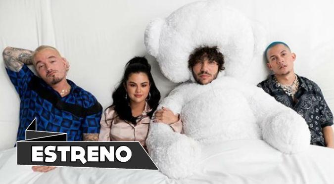 Selena Gómez estrena canción con J Balvin, Benny Blanco y Tainy