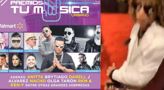 Botaron a conocido cantante de trap por fumar en Premios Tu Música (VIDEO)