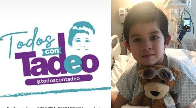 'Todos Con Tadeo': La campaña solidaria para niño de 5 años