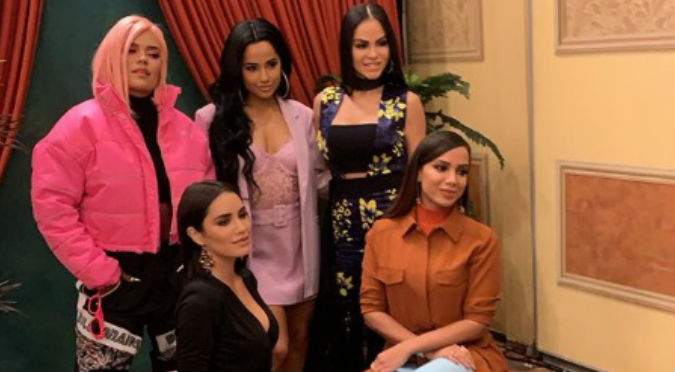 Natti Natasha, Karol G, Becky G, Anita y Lali Espósito se lucen juntas en los Billboard (VIDEO)