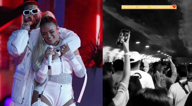 Karol G y Anuel AA: Fanáticos causan alboroto después de concierto (VIDEO)