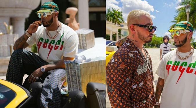 Anuel presume fajos de dólares en nuevo videoclip junto a Nicky Jam, J Balvin y Arcángel