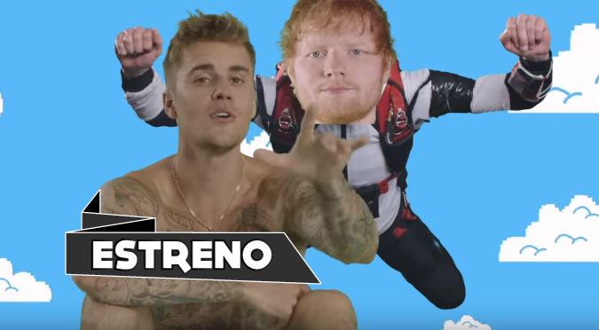 Ed Sheeran y Justin Bieber juntos en extraño videoclip de 'I don't care'