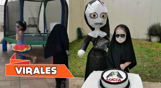 Niña aterró a invitados con temática de 'La Monja' en su cumpleaños (VIDEO)