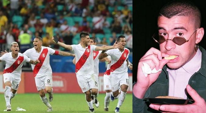 Copa América: Selección Peruana celebró con Bad Bunny su pase a la final (VIDEO)