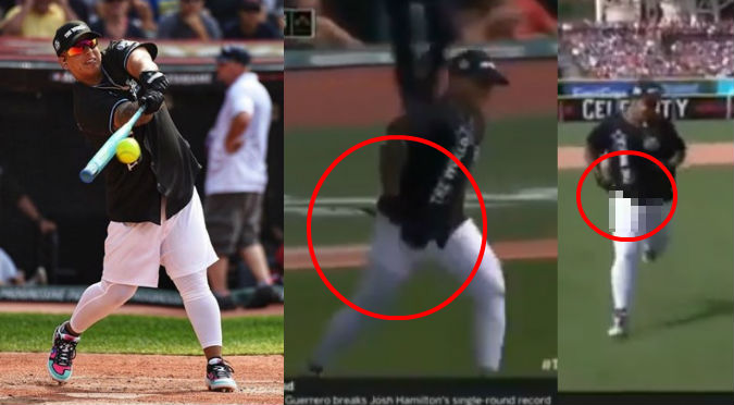 Daddy Yankee casi se queda en boxer en juego de la MLB (VIDEO)