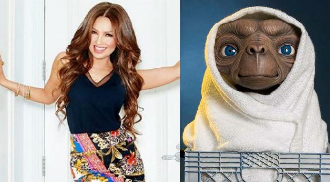 ¿Por qué Thalía fue comparada con E.T., el extraterreste? (FOTOS)