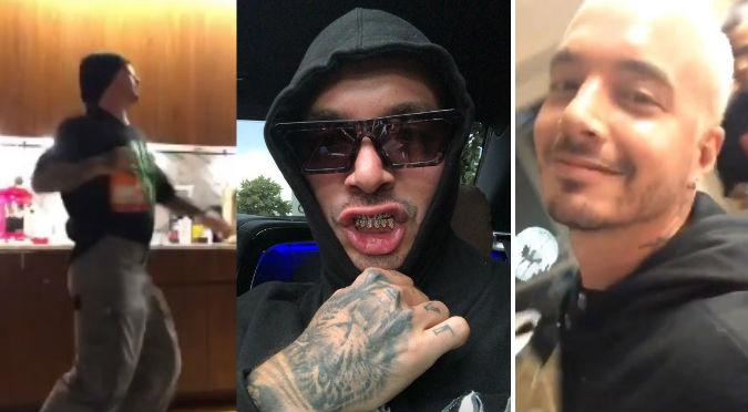 J Balvin se graba bailando tema viral y hace reír a seguidores (VIDEO)