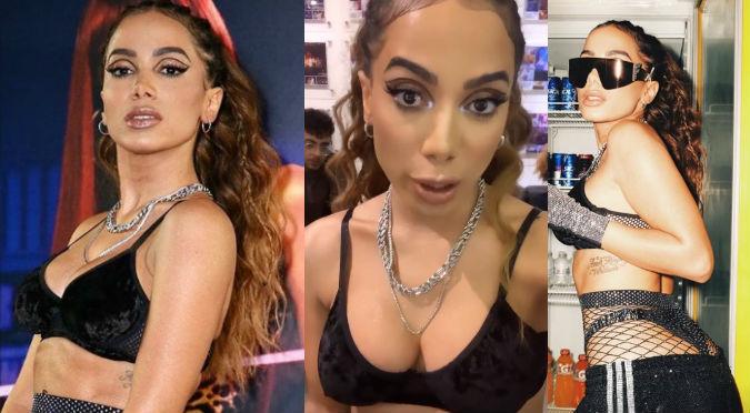 Fotografiaron a Anitta mientras se vestía y ella reaccionó así (VIDEO)