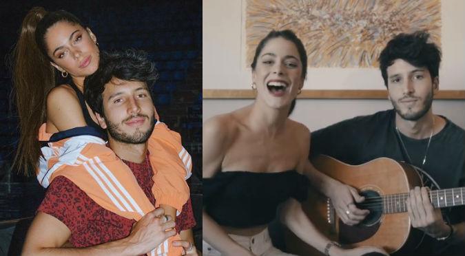 Sebastián Yatra reveló sin querer el secreto de Tini y ella reaccionó así (VIDEO)
