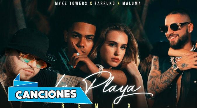 Myke Towers, Maluma & Farruko - La Playa Remix