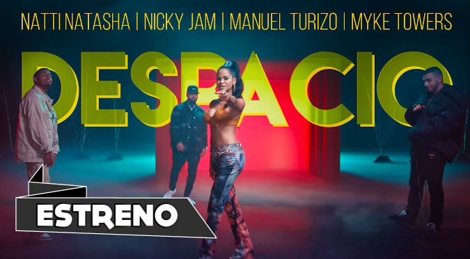 Natti Natasha | Nicky Jam | Manuel Turizo | Myke Towers - Despacio (VIDEO)