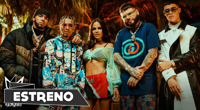 Rauw Alejandro, Anuel AA, Natti Natasha Ft. Farruko y Lunay - Fantasías Remix (VIDEO)
