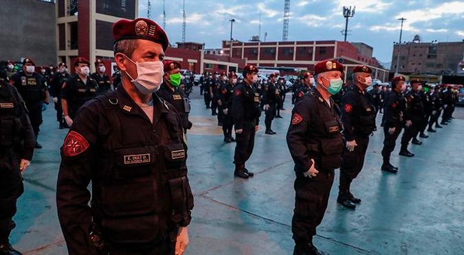 Coronavirus en Perú: 21 policías con COVID-19 fueron dados de alta