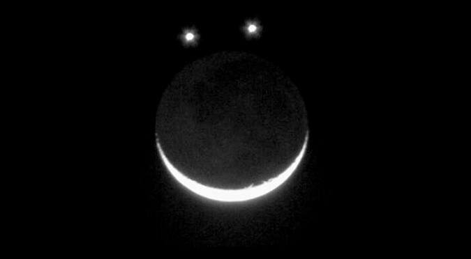 """Júpiter, Venus y la Luna se alinearán para formar una """"carita feliz"""" en el cielo"""