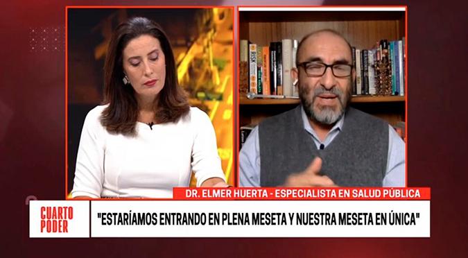 """Elmer Huerta sobre COVID-19: """"desde la próxima semana empieza la bajada de la curva"""""""