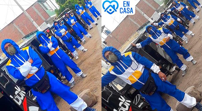 Chiclayo: Mototaxistas usan traje de Saiyajin para evitar contagiarse de COVID-19