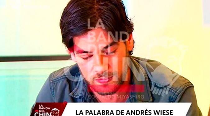 Andrés Wiese reveló que pensó en desaparecer luego de las críticas recibidas