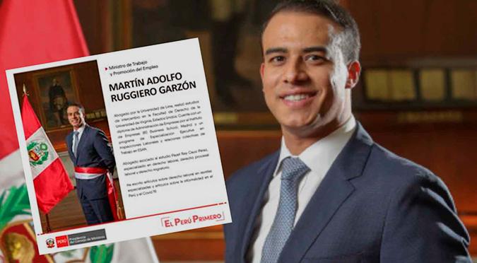 """Ministro de Trabajo se vuelve tendencia tras """"rochoso"""" cambio en su CV"""