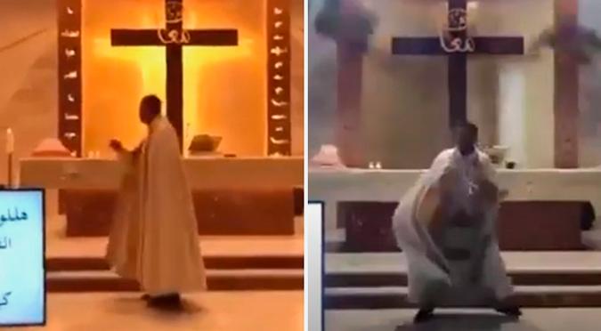 Explosión en Beirut: Se registra impactante caída del techo de una iglesia en plena realización de una misa | VIDEO