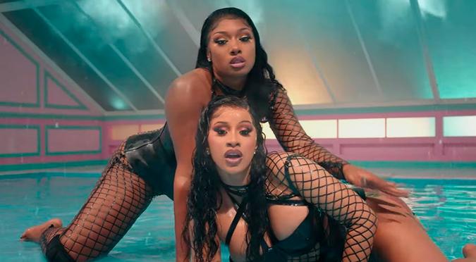 """Cardi B y Megan Thee Stallion estrenan """"WAP"""" acompañadas de Rosalía y Kylie Jenner   VIDEO"""